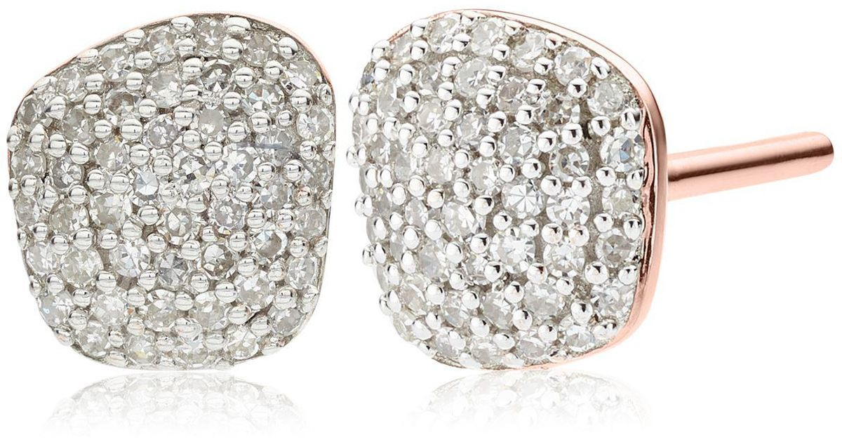 fff38aefa7928 Monica Vinader - Multicolor Nura Nugget Stud Earrings - Lyst