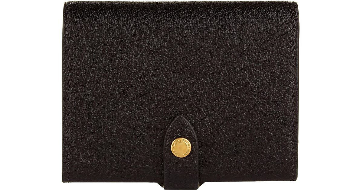 9c9c10384fbb Lyst - Burberry Harlow Leather Wallet in Black