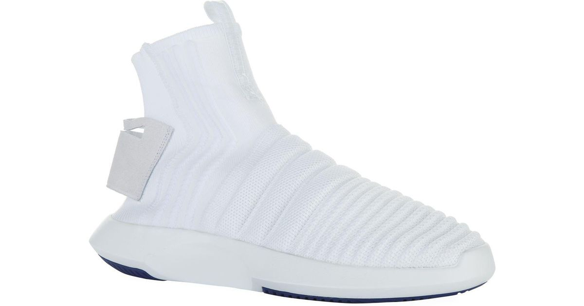 best sneakers 009e6 759ec Lyst - adidas Originals Crazy 1 Adv Primeknit Sock Sneakers in White for Men