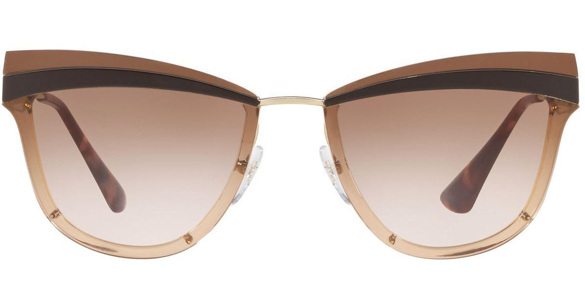d6cbe85d8aed ... cheap lyst prada two tone cat eye sunglasses in brown 8aad0 de149