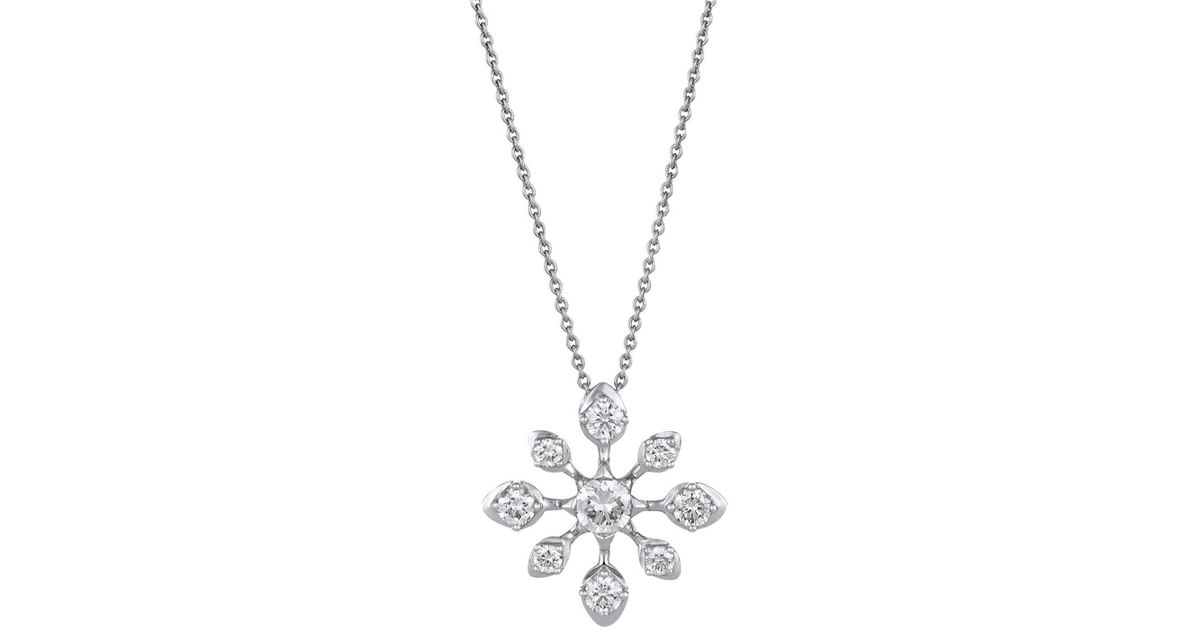 De beers white gold and diamond star pendant necklace in metallic lyst aloadofball Choice Image