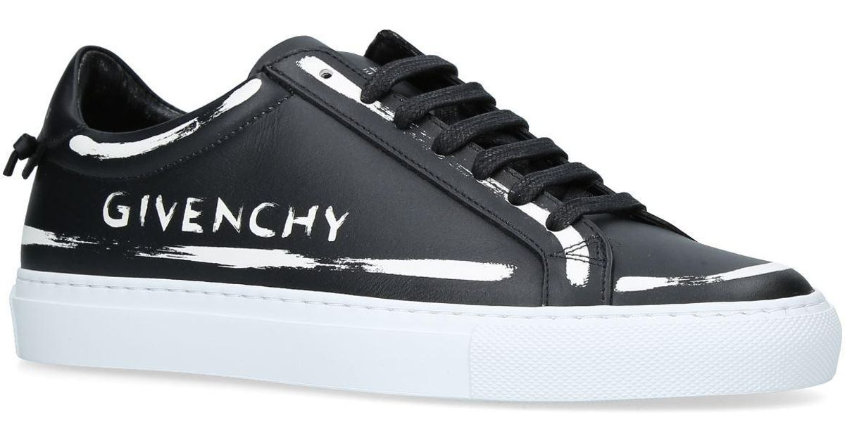 2283cfb237050 Lyst - Givenchy Leather Logo Painted Low-top Sneakers