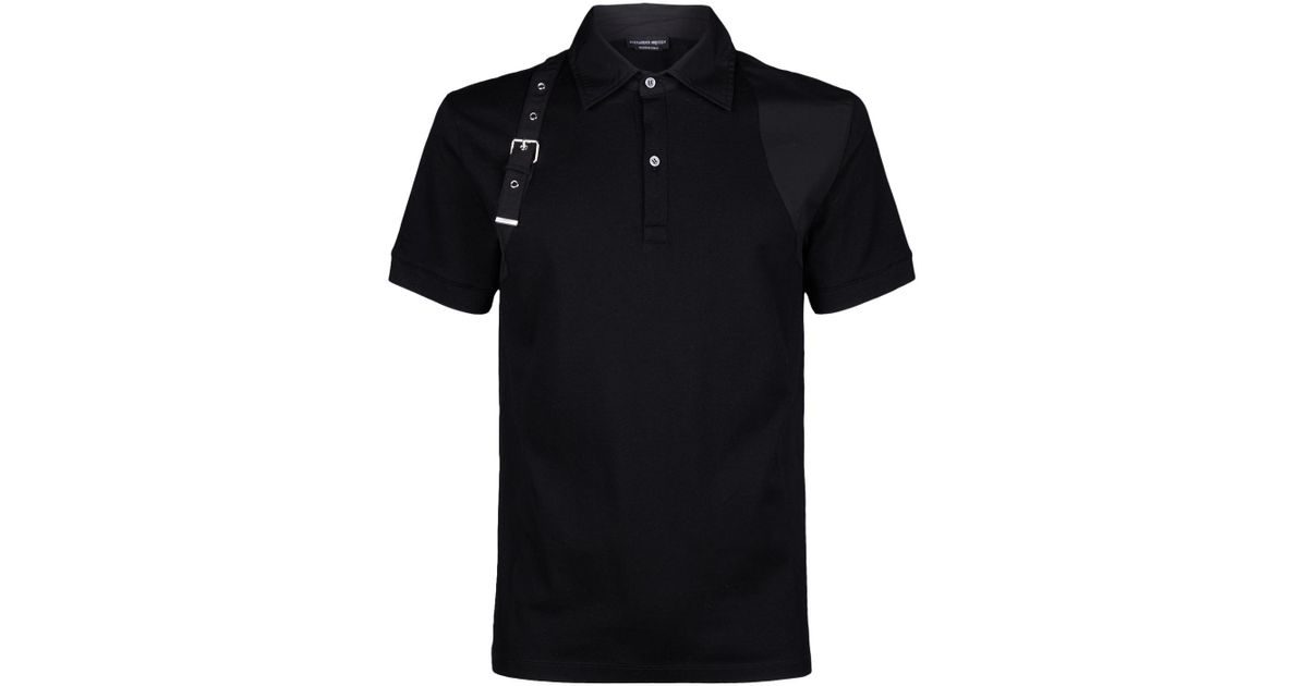 89a86fb7 Lyst - Alexander McQueen Harness Strap Polo Shirt in Black for Men - Save  26%