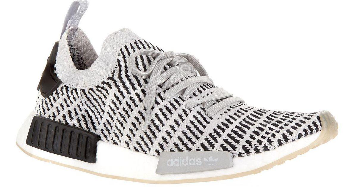 buy popular bdfd8 5c031 Adidas Originals - Gray Nmd R1 Stlt Primeknit Sneakers, Grey, Uk 10.5 - Lyst