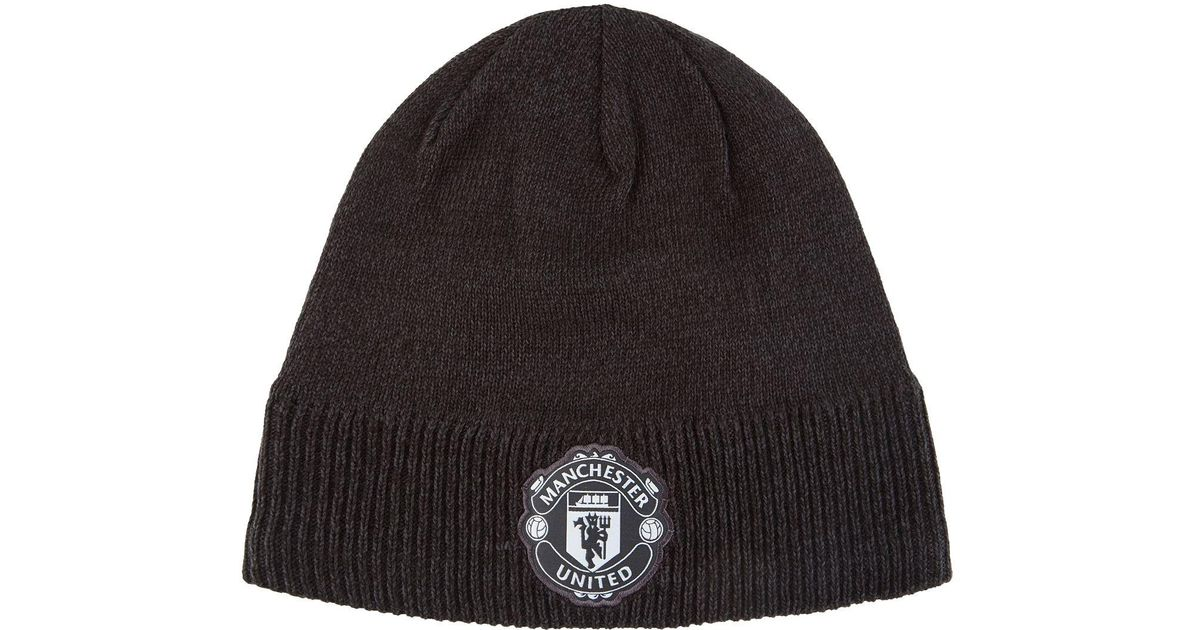 the latest 1eeb4 514a8 adidas Manchester United Fc Beanie in Gray for Men - Lyst