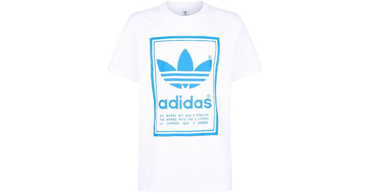 7acc464e536 Lyst - adidas Originals Vintage T-shirt in White for Men