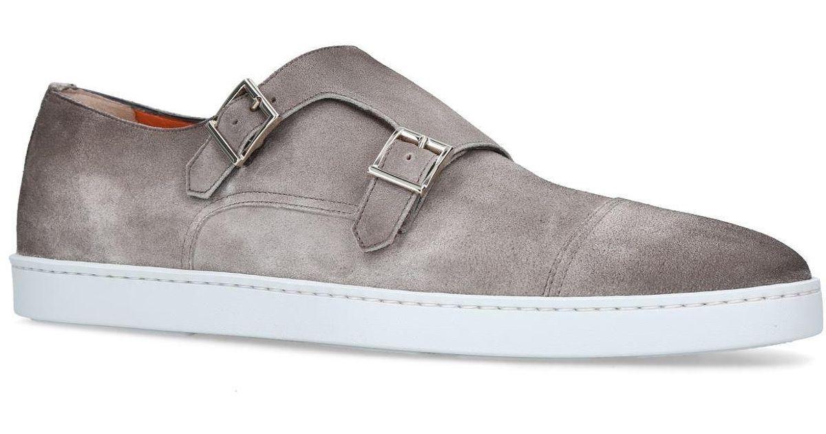 8aedca70464 Lyst - Santoni Atlantis Double Strap Monk Sneakers in Gray for Men