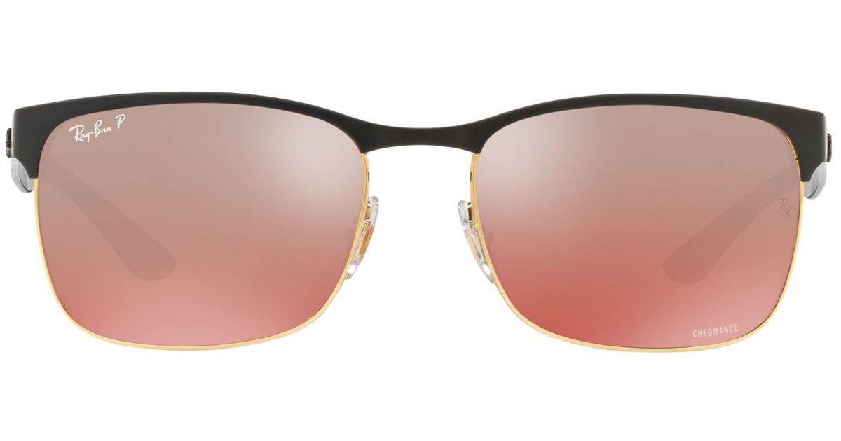 fe9ccc7221 Ray-Ban - Black Chromance Sunglasses - Lyst
