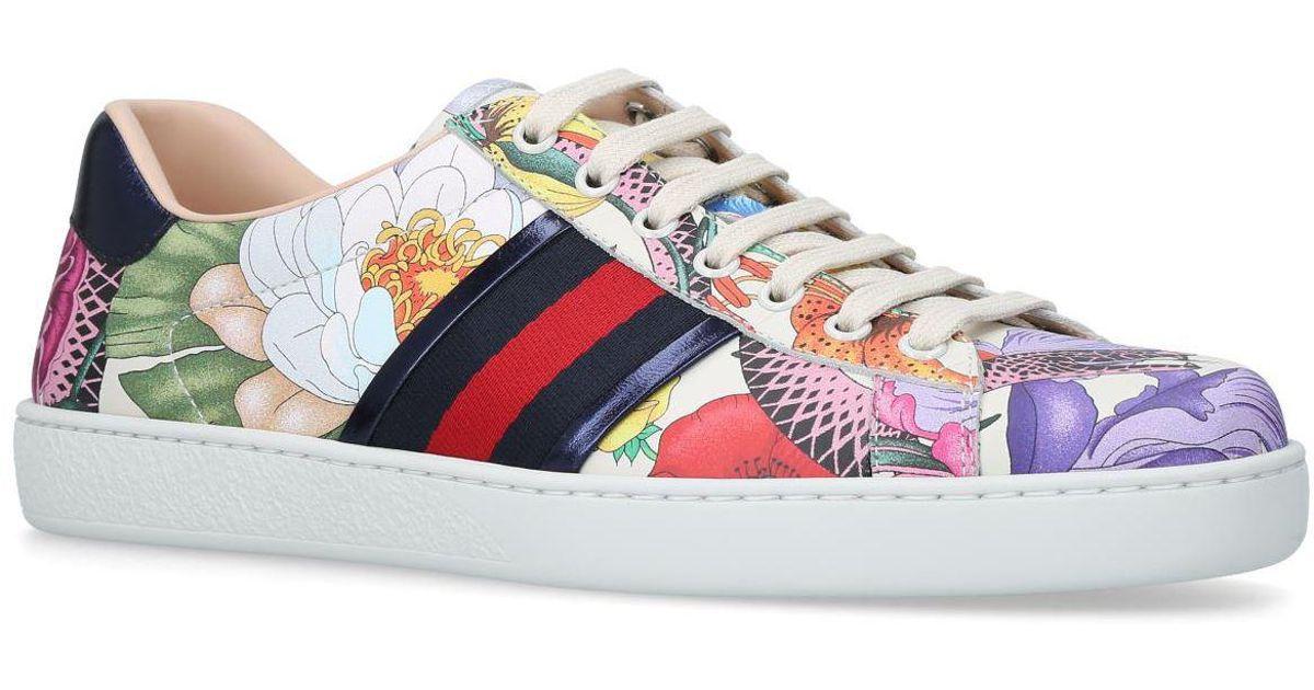 e4e4c44dc5f47a Lyst - Gucci New Flora Ace Sneakers