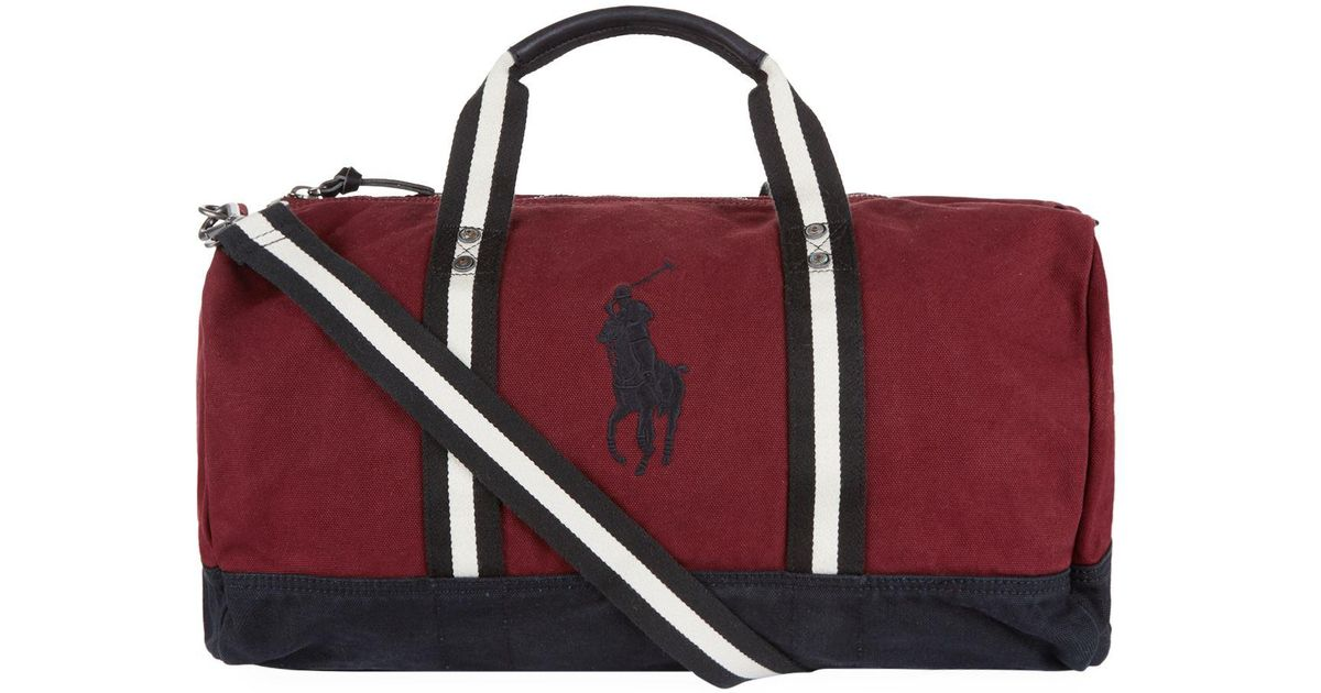 cace67d28fee Polo Ralph Lauren Canvas Polo Player Logo Duffle Bag in Red for Men - Save  40% - Lyst