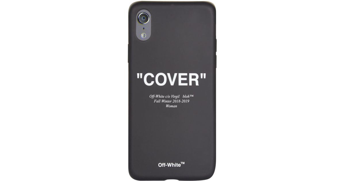 Lyst - Off-White c o Virgil Abloh Cover Quote Iphone X Case in Black 34b795ab1