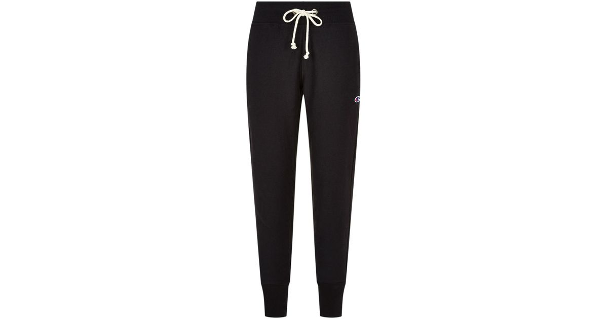 f1c3a4094 Lyst - Champion Embroidered Logo Tapered Sweatpants in Black