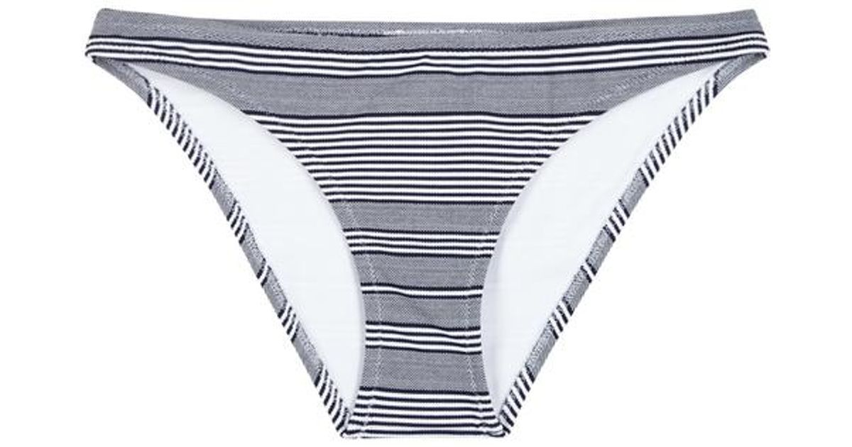 248ea05062bad Heidi Klein Cote Sauvage Navy Striped Bikini Briefs in Blue - Lyst