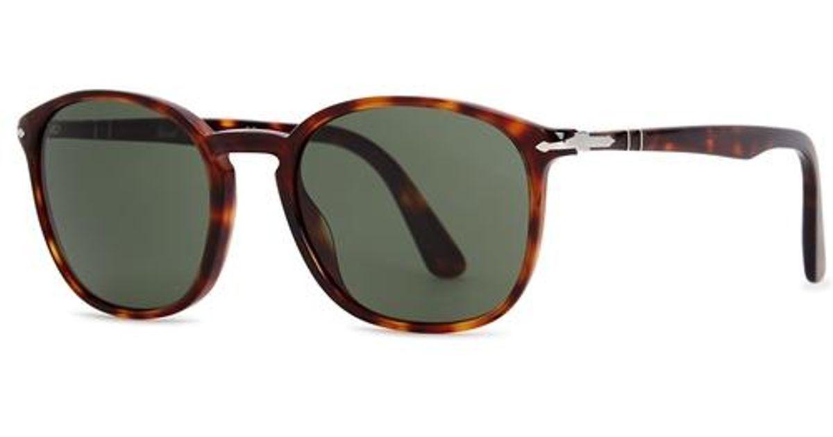 7dfa065434e0c Persol Po3215s Oval-frame Sunglasses for Men - Lyst