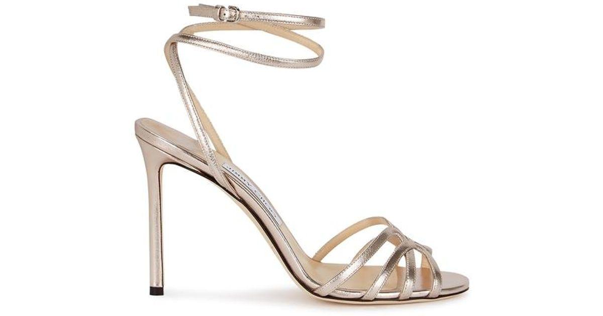 13f817621b9 Jimmy Choo. Women s Metallic Mimi 100 Bronze Leather Sandals. £575 From Harvey  Nichols