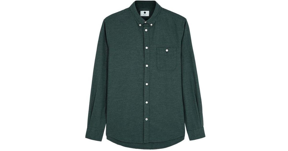 Nn07 Derek Forest Green Flannel Shirt in Green for Men - Lyst 640515330df53