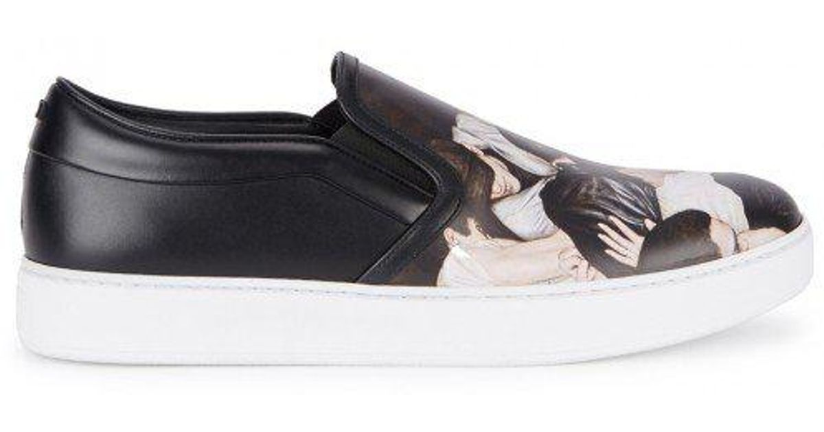 713d3139a Dior Homme Mosh Pit-print Leather Skate Shoes in Black - Lyst