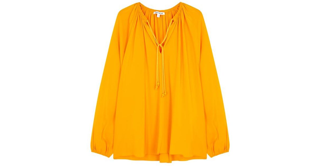 e2d67b4d52a02a Elizabeth And James Chance Saffron Silk Blouse in Yellow - Lyst
