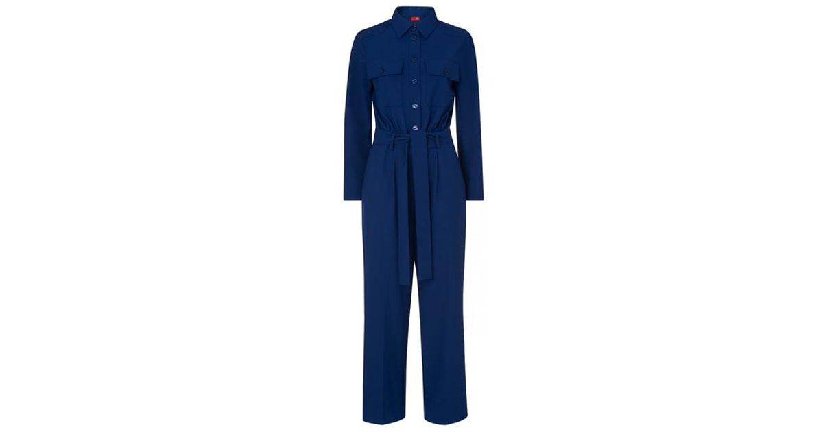 13c15aa0ce5 Kitri Celeste Tailored Jumpsuit in Blue - Lyst