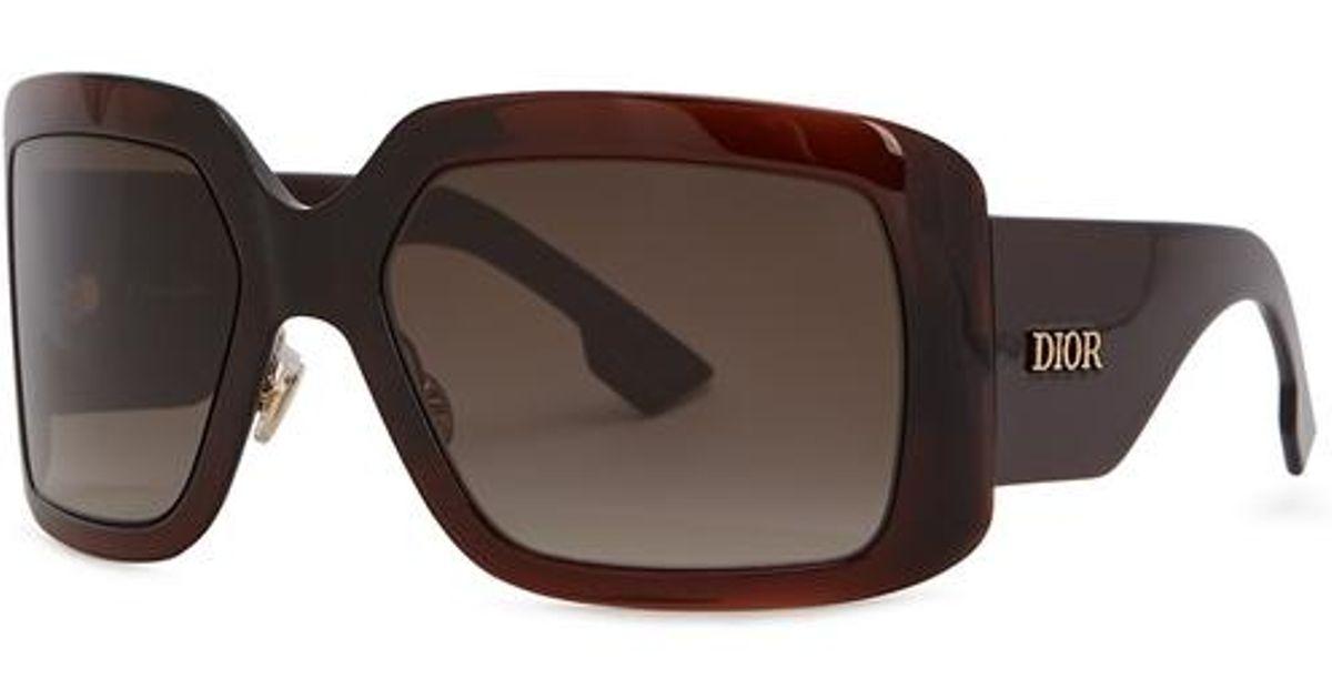 403f760edb0 Dior Solight2 Square-frame Sunglasses in Brown - Lyst