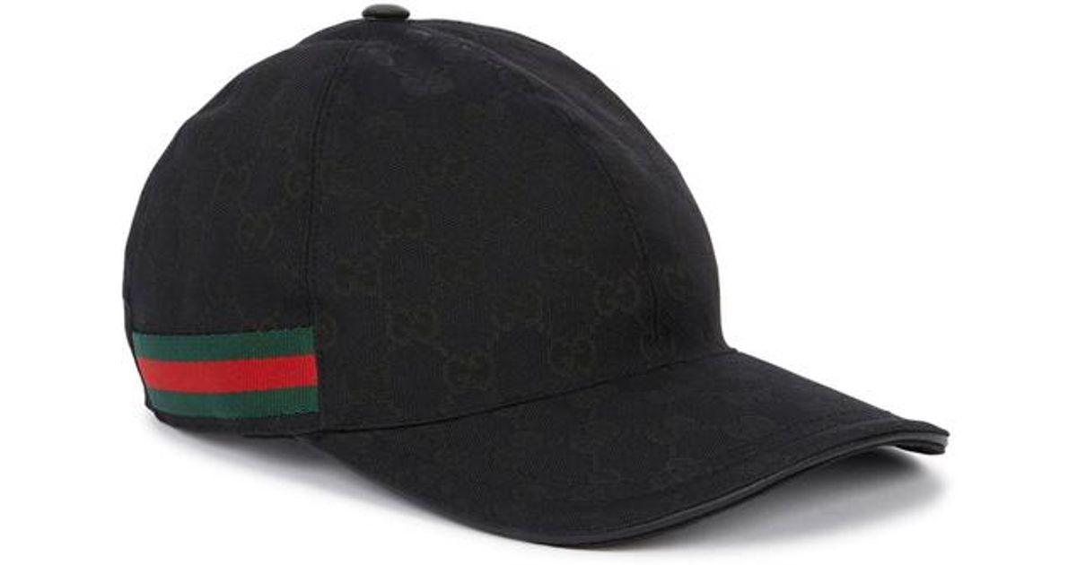 8b491eac5cbc7 Gucci Gg Supreme Monogrammed Cap in Black for Men - Lyst