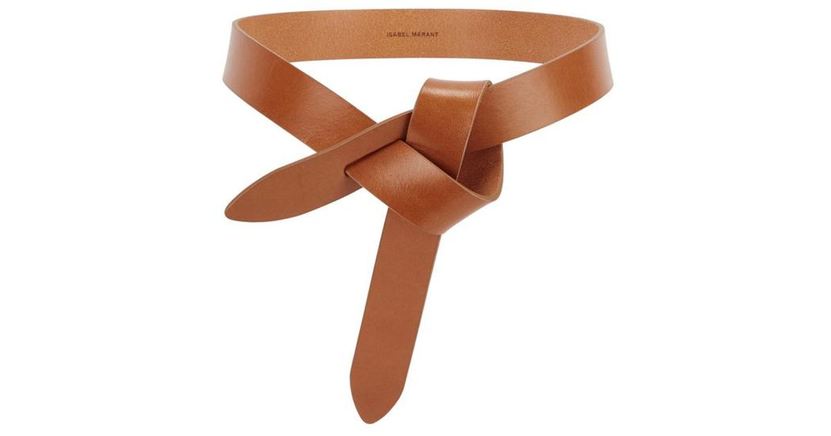 8614999c685f Étoile Isabel Marant Lecce Brown Knotted Leather Belt in Brown - Lyst