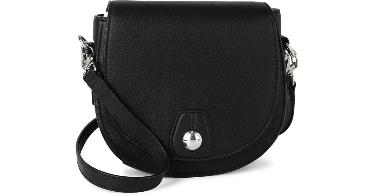 7b60387d9255 Rag   Bone Flight Mini Leather Cross-body Bag in Black - Lyst
