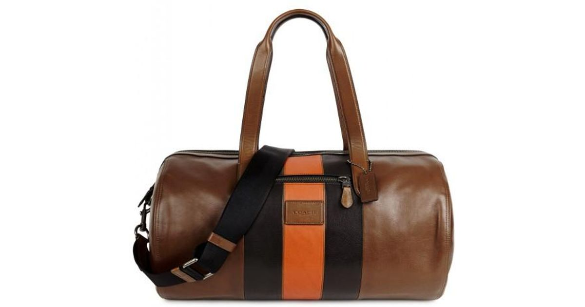 Coach Metropolitan Tri-tone Leather Holdall in Brown for Men - Lyst 482502b468
