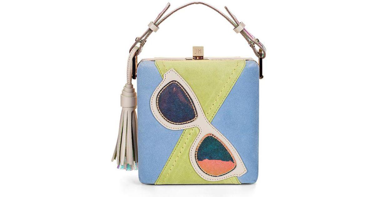 Jill haber charles applique box bag in blue lyst