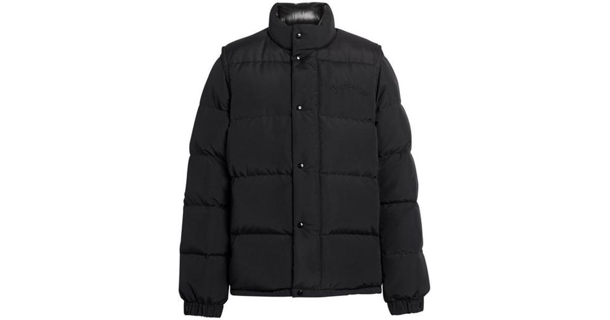 3ed46f9dab7b Burberry Detachable-sleeve Down-filled Puffer Jacket in Black for Men - Lyst