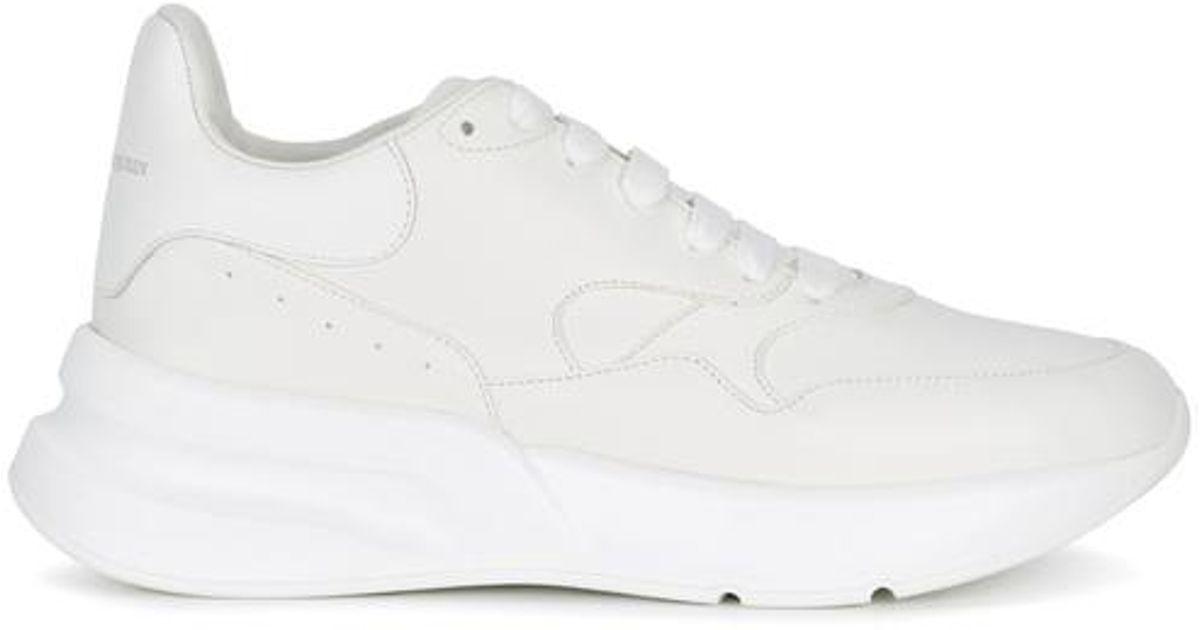 ec74e1048307 Alexander Mcqueen Oversized Runner Leather Trainers in White for Men - Lyst