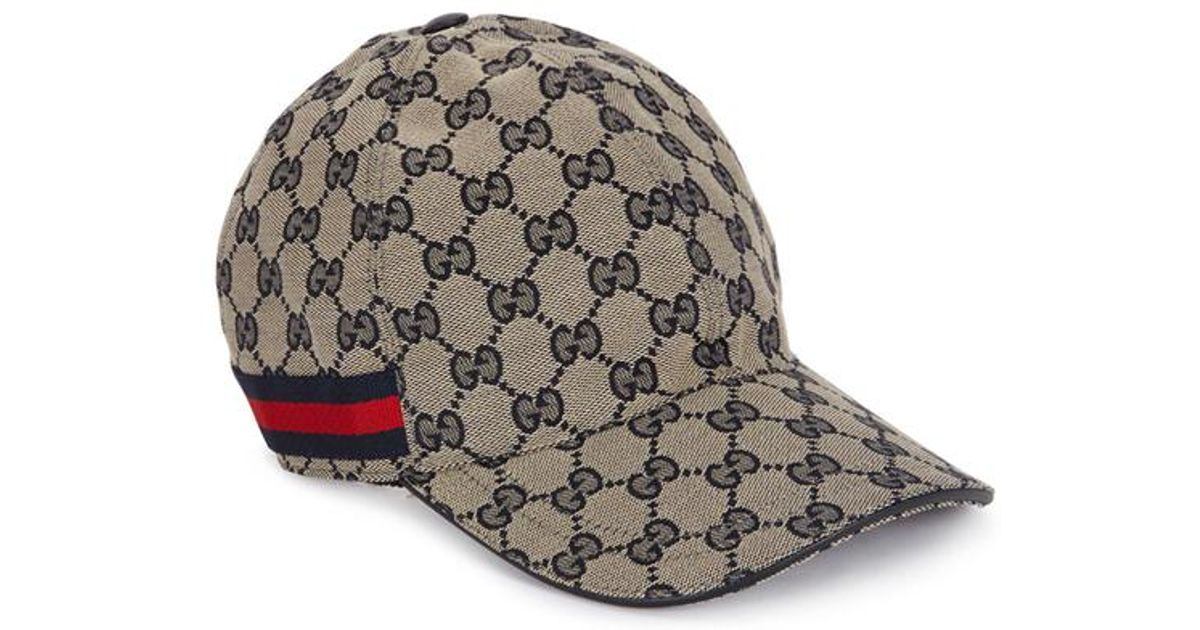 08a6396392b85 Gucci Gg Supreme Monogrammed Cap in Blue for Men - Lyst