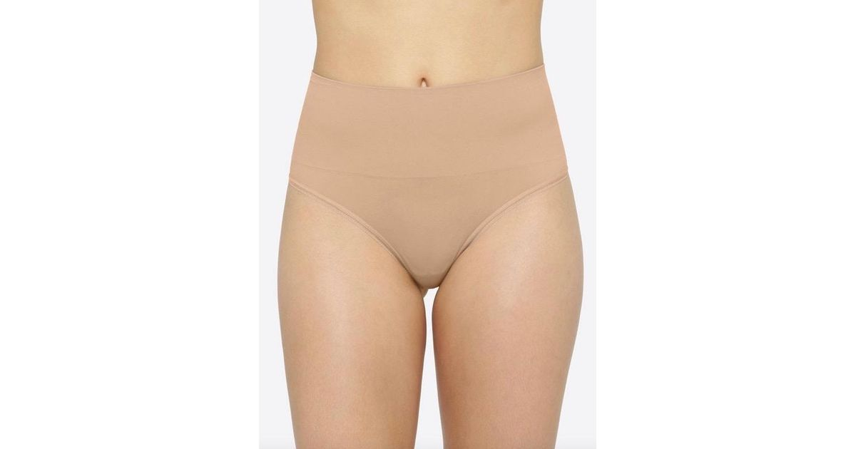 2374605dff4 Lyst - Yummie Tummy Control High Waist Shaping Thong in Natural