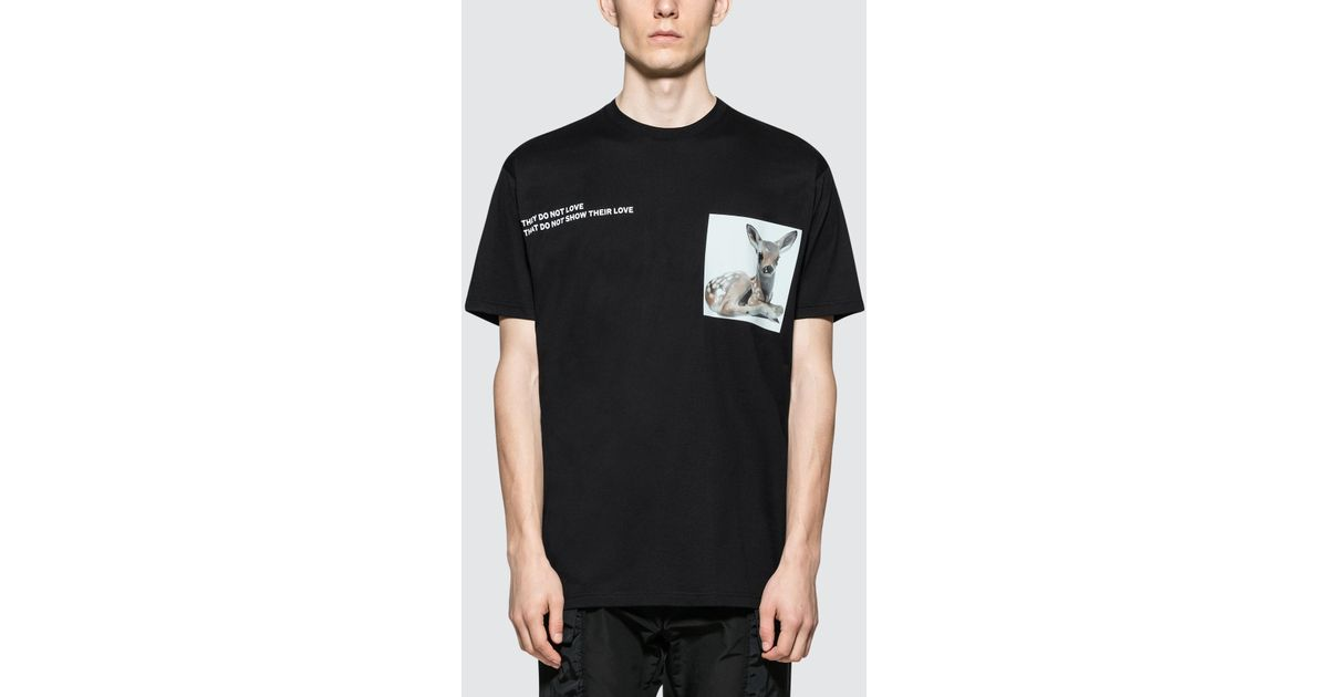 e977e21951 Lyst - Burberry Deer-print Cotton T-shirt in Black for Men - Save 19%