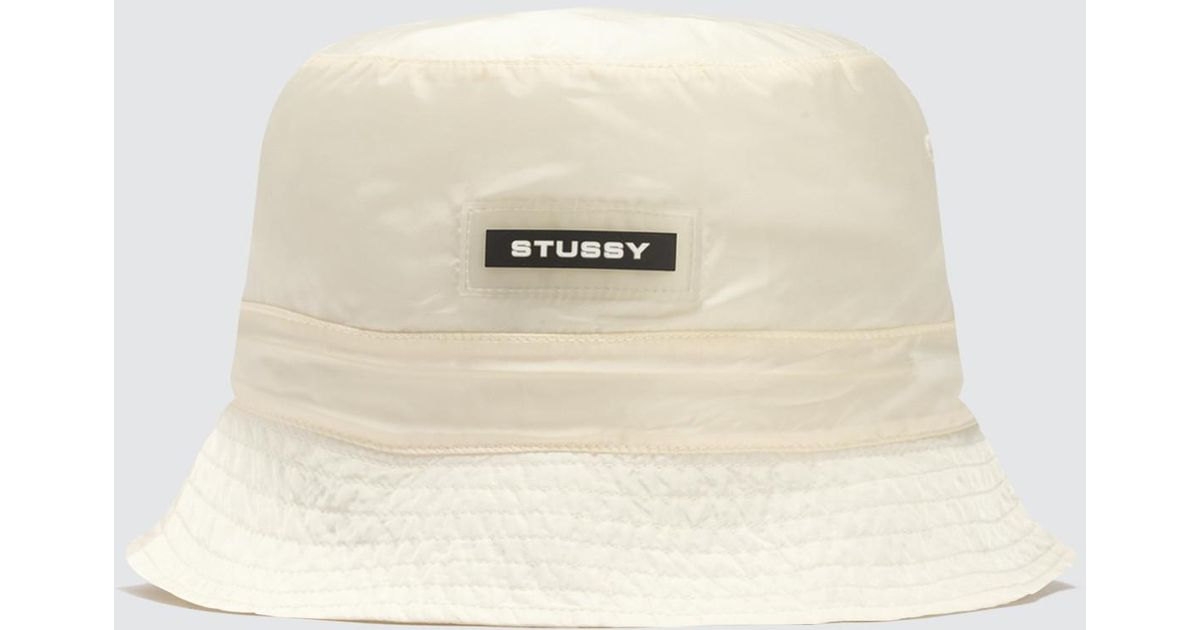Lyst - Stussy Clio Translucent Bucket Hat in Natural 0cf9cf5dfa62
