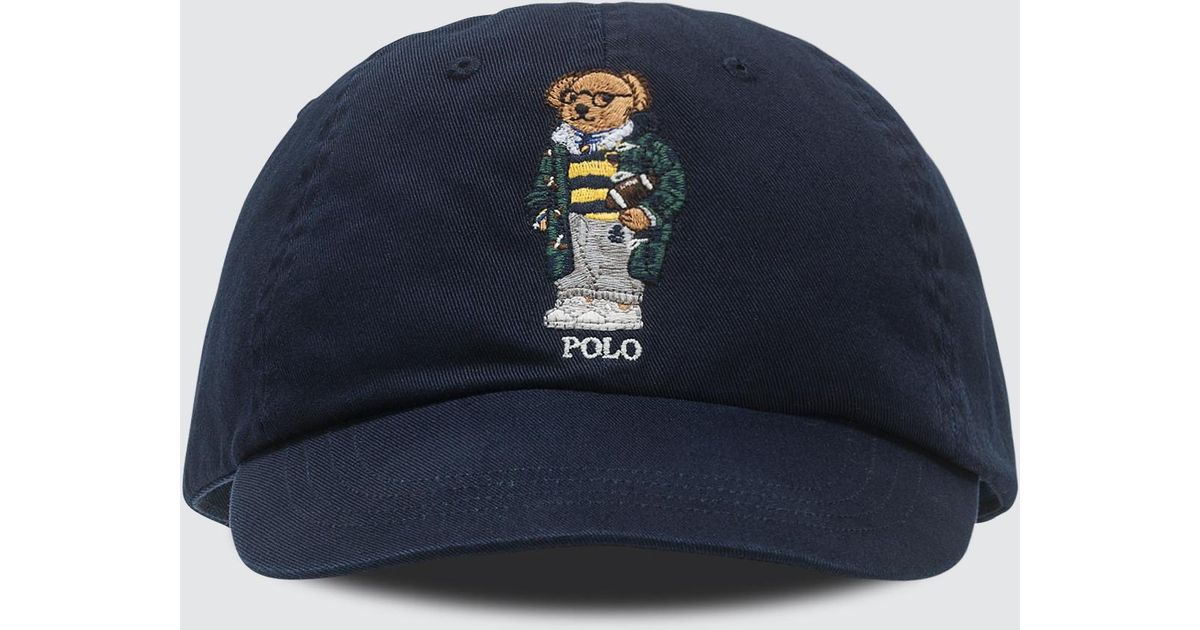9ee6fafa6679f Polo Ralph Lauren Classic Sport Cap With Bear in Blue for Men - Lyst