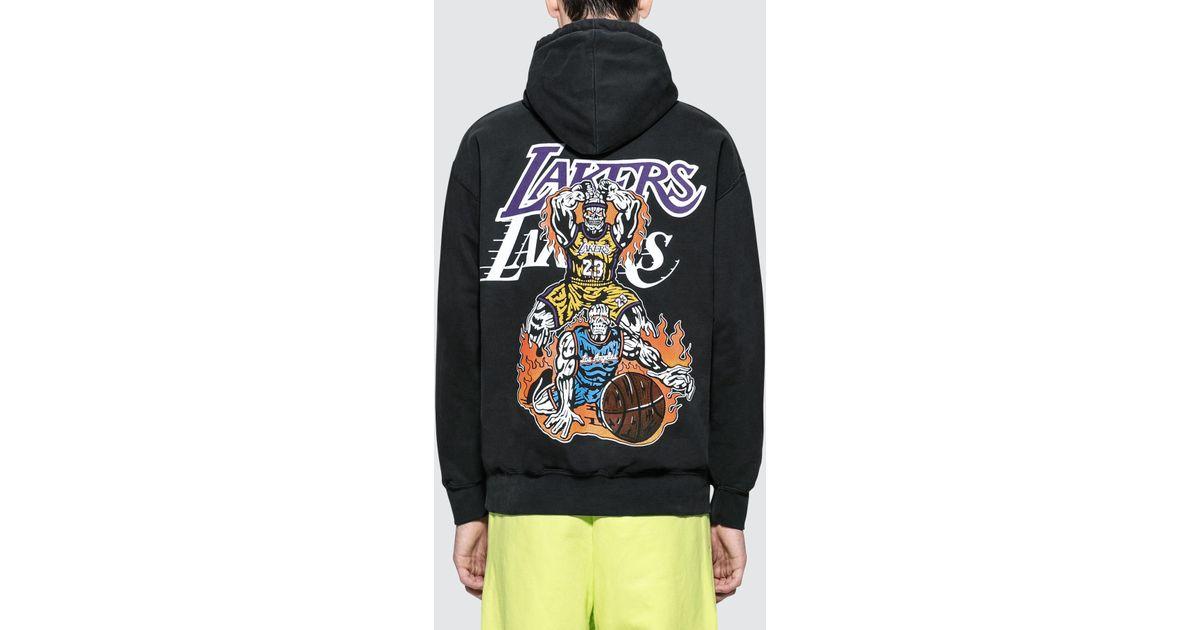 0fa4c748668 Warren Lotas Lakers Hoodie in Black for Men - Lyst