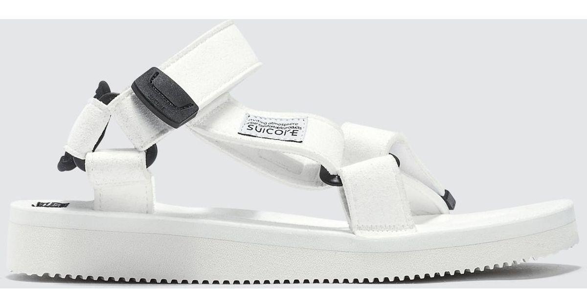 eb6d243f40ab Suicoke Depa-ecs Sandal in White - Lyst