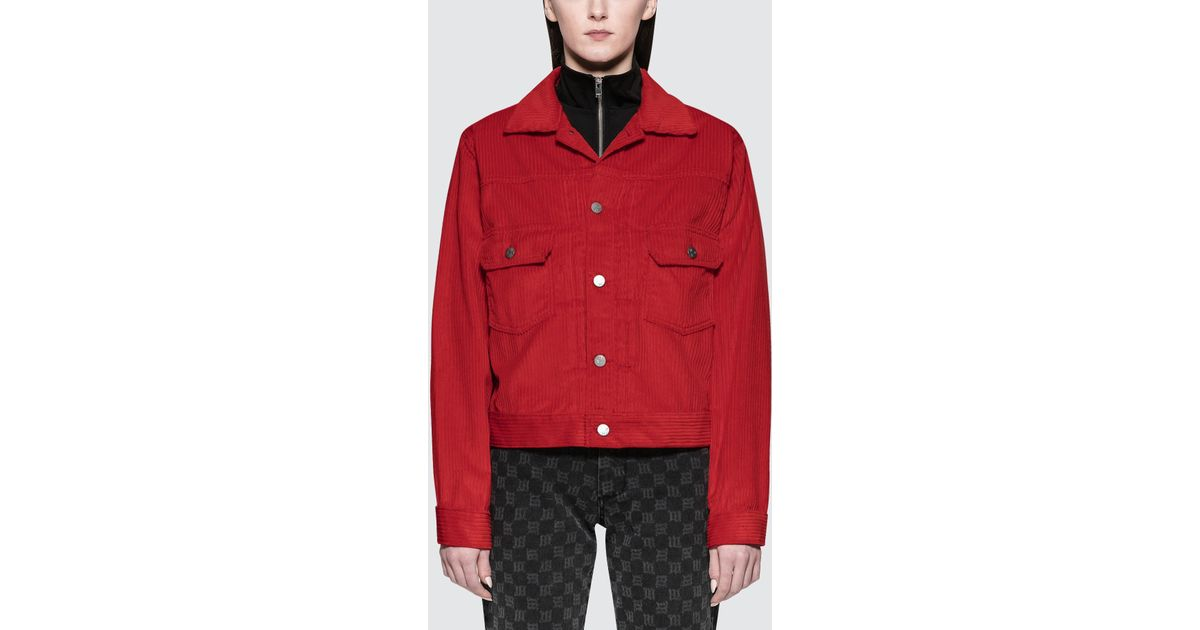Lyst m i s b h v extacy cord jacket in red voltagebd Gallery