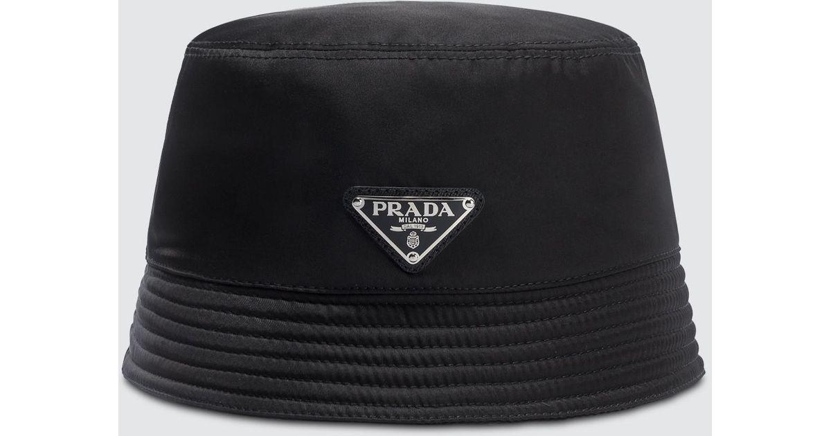 Prada Nylon Bucket Hat in Black for Men - Lyst df5b2e84b98