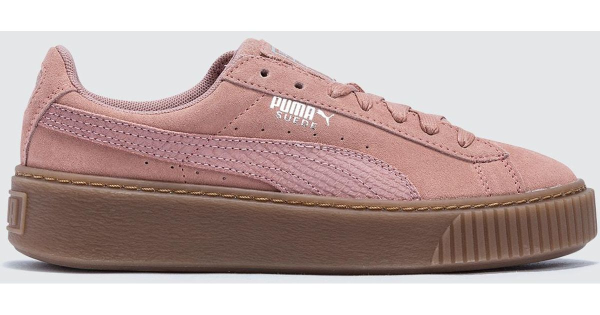 07f6733813a5 Puma Suede Platform Animal in Pink
