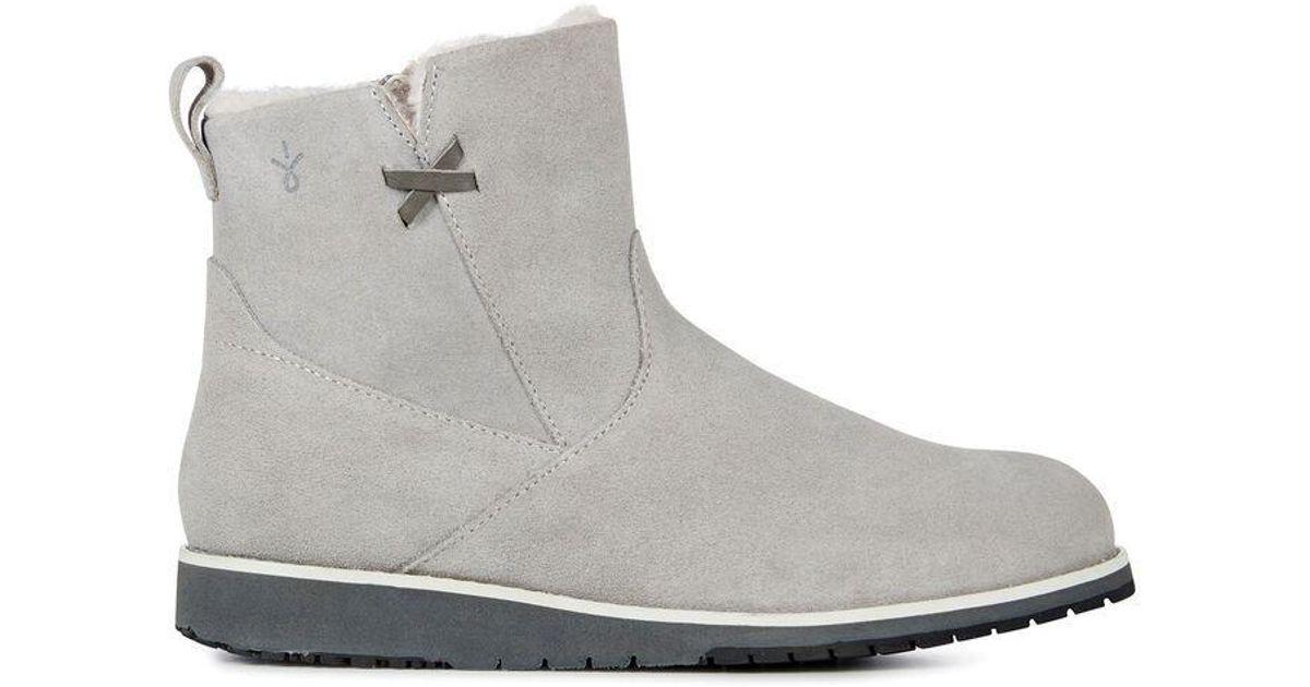 0536c2c3dc3 EMU Gray Beach Mini Dove Grey Suede Merino Wool Lined Boot