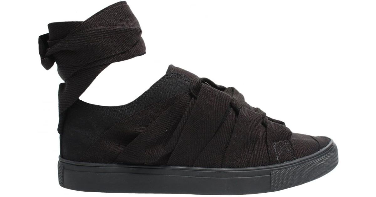 7a3a20b78f5 Yohji Yamamoto Runway Tape Sneakers Black in Black for Men - Lyst