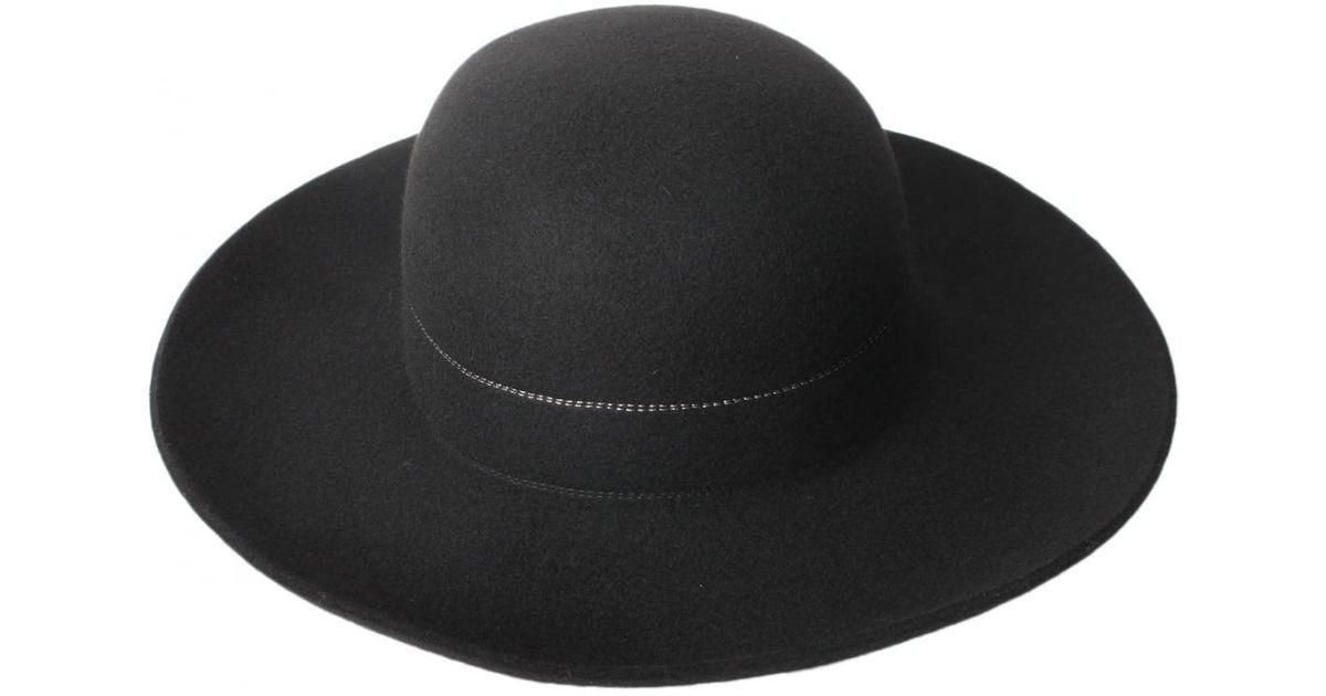 Lyst - Comme Des Garçons Bibi Big Wool Hat Black in Black 823b4e5e3737