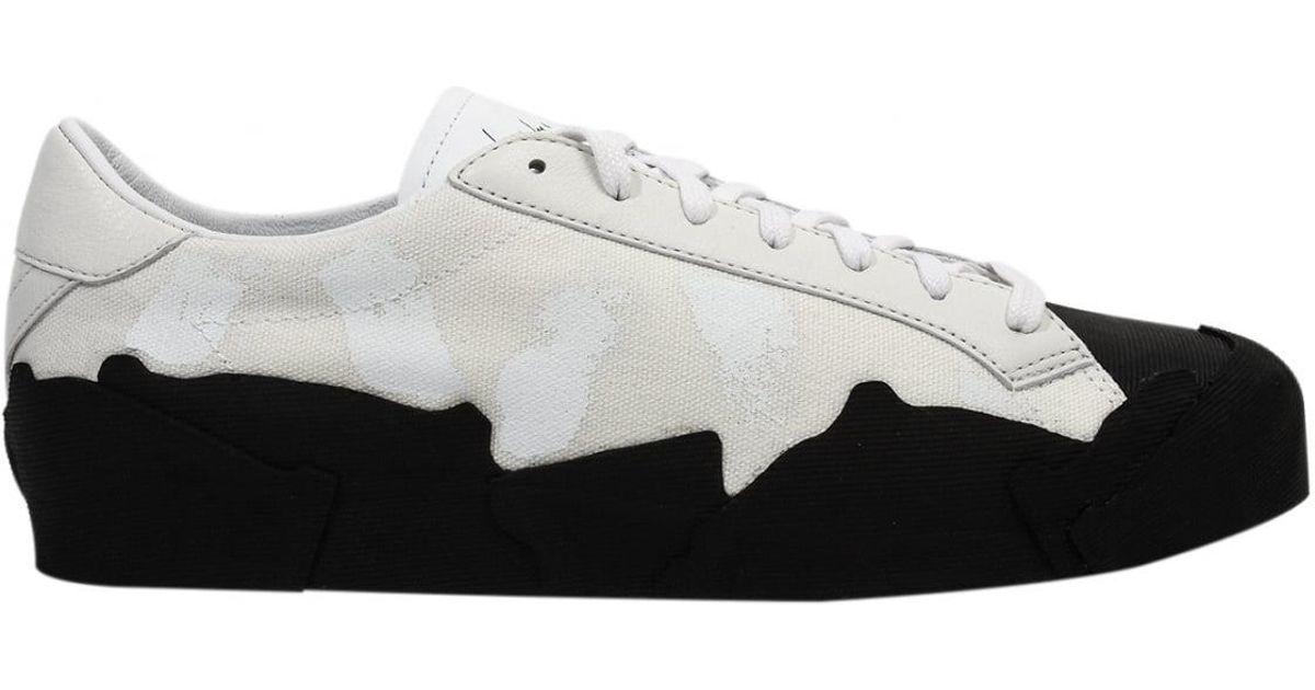 cc50eb3996e22 Lyst - Yohji Yamamoto Low Top Takusan Painted Sneakers White black in White  for Men