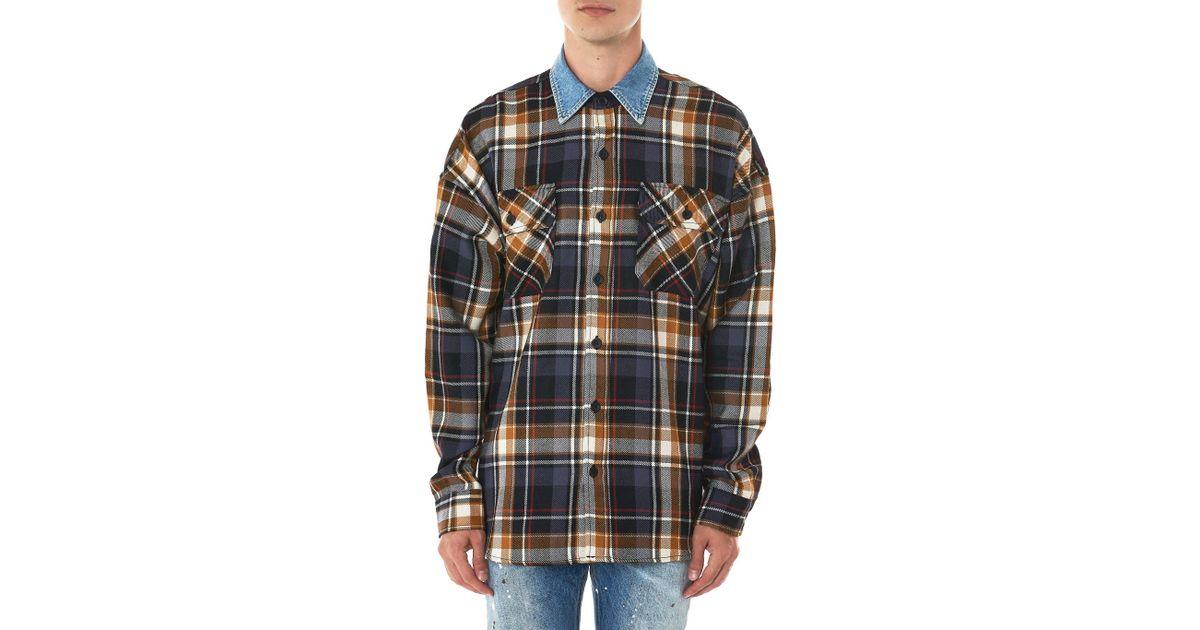 10c33e1b5f Lyst - Fear Of God Denim Collar Flannel Shirt for Men