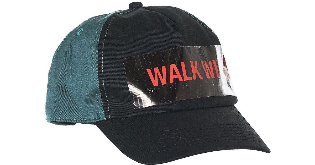 Lyst - Raf Simons  walk With Me  Petrol Baseball Cap for Men 348361b19ff
