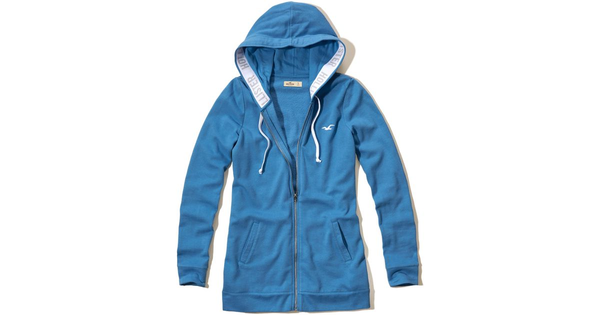 Hollister Sweaters Hollister Hoodies Hollister Shirts Hollister Jacket Hollister Pants Hollister Jeans: Hollister Logo Elastic Hoodie In Blue