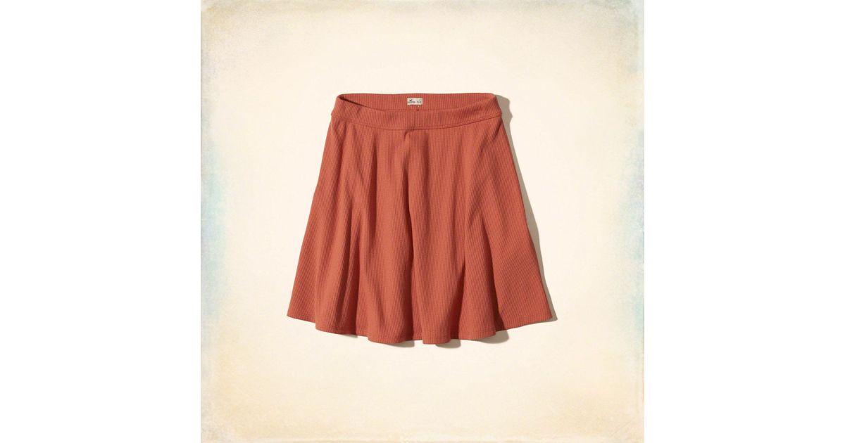 be281c71b Lyst - Hollister Ribbed Knit Skater Skirt