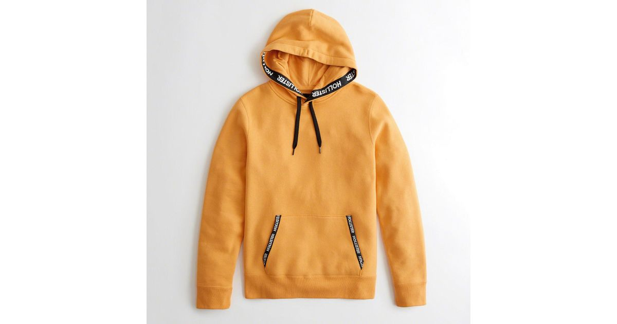 Hollister Guys Logo Tape Hoodie From Hollister In